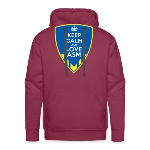 Blason Keep Calm And Love ASM - Sweat-shirt à capuche Premium pour hommes
