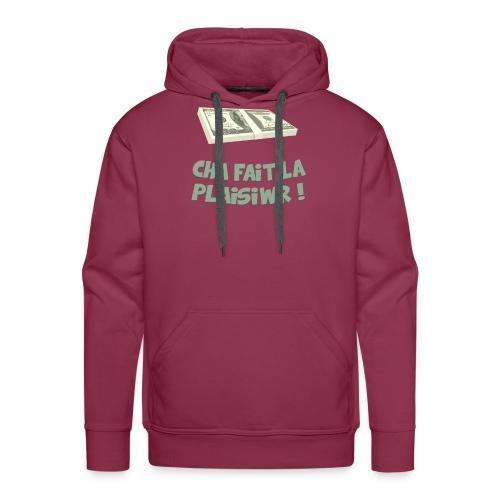 CHA FAIT LA PLAISIWR png - Sweat-shirt à capuche Premium pour hommes