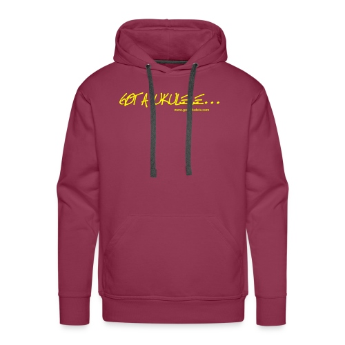 Official Got A Ukulele website t shirt design - Men's Premium Hoodie