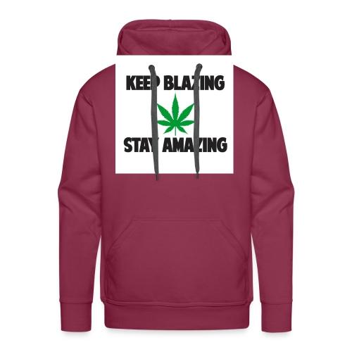 keepblazingstayamazing la - Sweat-shirt à capuche Premium pour hommes