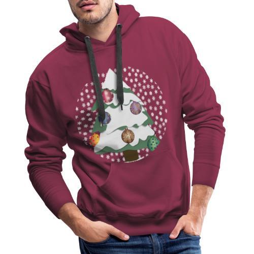 Christmas tree in snowstorm - Men's Premium Hoodie