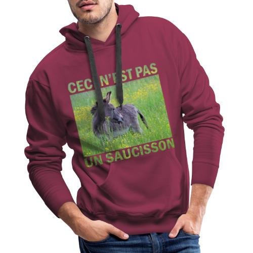 Ceci n'est pas un saucisson - Sweat-shirt à capuche Premium pour hommes