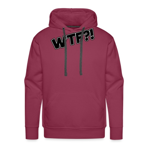WTF?! - Sudadera con capucha premium para hombre