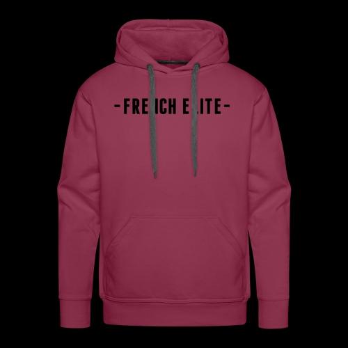 french elite strak voor sier achter - Mannen Premium hoodie