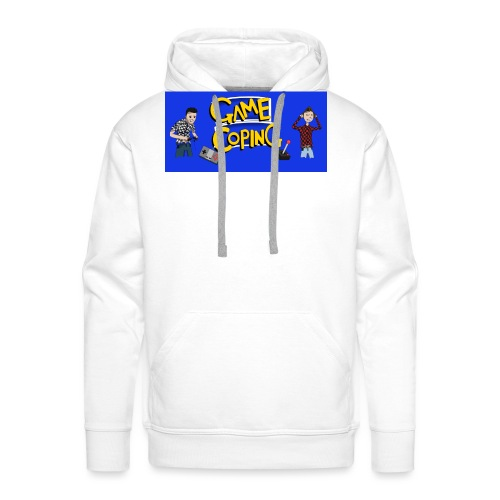 Game Coping Angry Banner - Men's Premium Hoodie