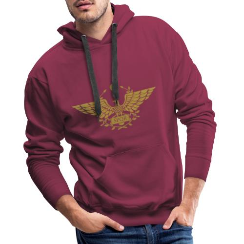 Orzeł SPQR   Eagle of SPQR - Bluza męska Premium z kapturem