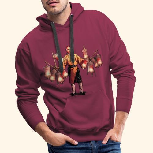 Shaolin Warrior Monk - Herre Premium hættetrøje