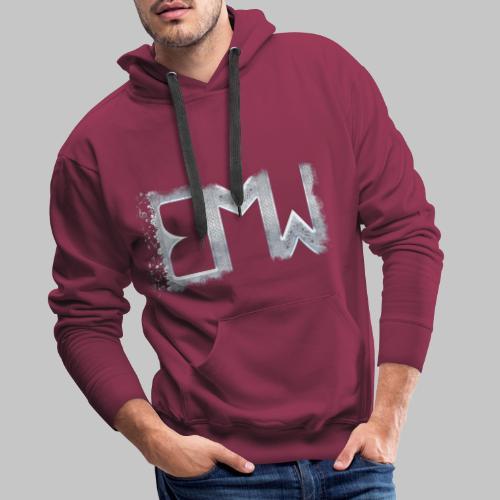 EMW Logo White Cut - Men's Premium Hoodie