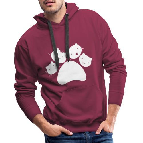 4Chatons Logo - Sweat-shirt à capuche Premium pour hommes
