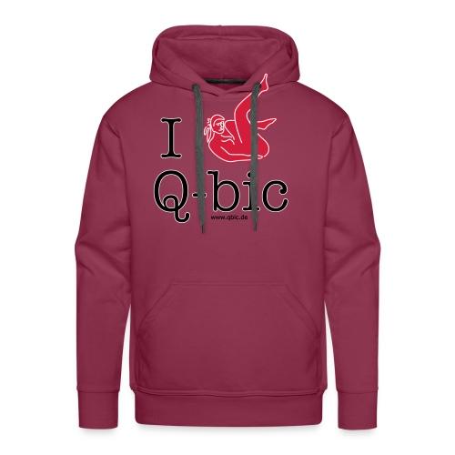 I Love Q-bic - Männer Premium Hoodie