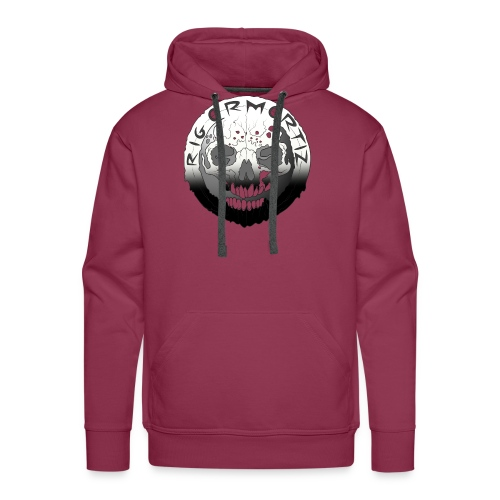 Rigormortiz Black White Design - Men's Premium Hoodie