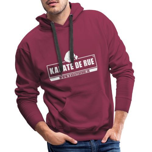 KARATE DE RUE - Sweat-shirt à capuche Premium pour hommes