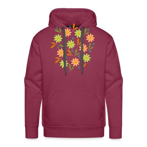 Blumen Muster - Männer Premium Hoodie