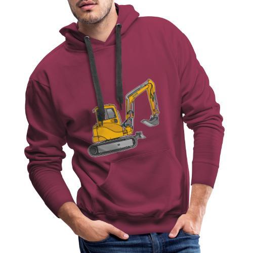 BAGGER, gelbe Baumaschine mit Schaufel und Ketten - Männer Premium Hoodie