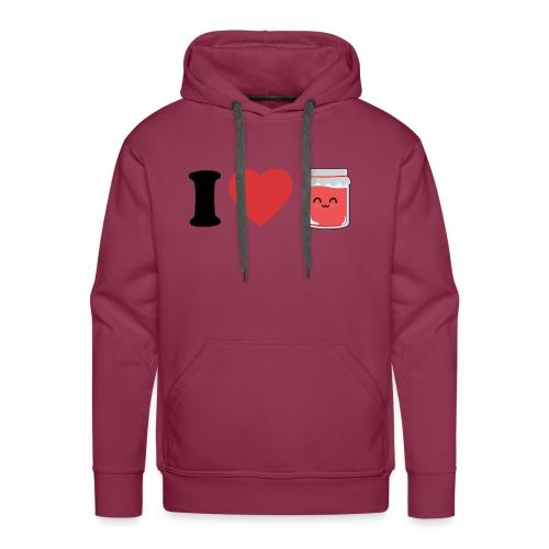 I love confiture - Sweat-shirt à capuche Premium pour hommes