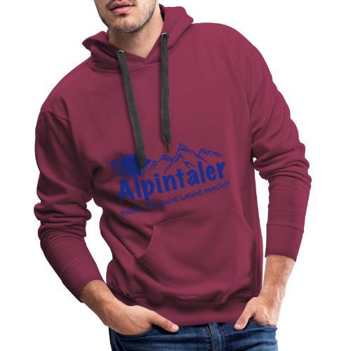 Logo dunkelblau spruch - Männer Premium Hoodie