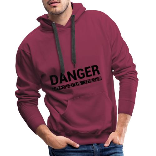 DANGER_antivirus_inside - Men's Premium Hoodie