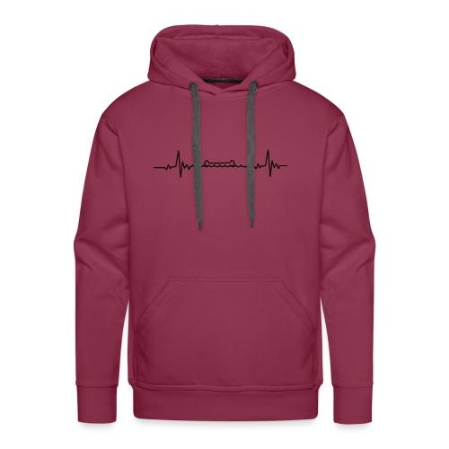 Kanu Heartbeat Ich liebe Kanufahren - Männer Premium Hoodie