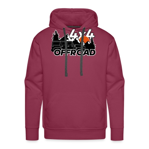 Offroad 4x4 Jeep Logo - Männer Premium Hoodie