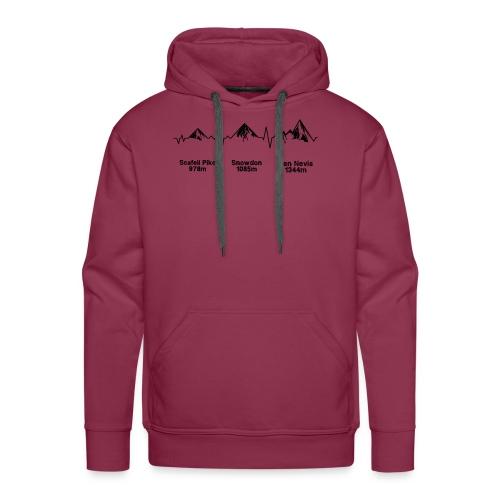ECG Thee Peaks Light Background - Men's Premium Hoodie