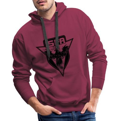 isfa logo 1c schwarz - Männer Premium Hoodie