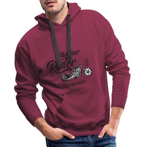 chopper rider - Sweat-shirt à capuche Premium pour hommes