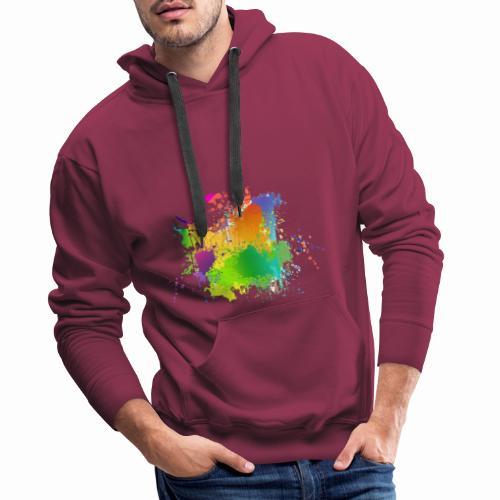 Farbkleckse - Männer Premium Hoodie