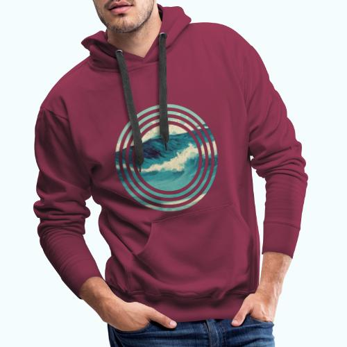 Wave vintage watercolor - Men's Premium Hoodie