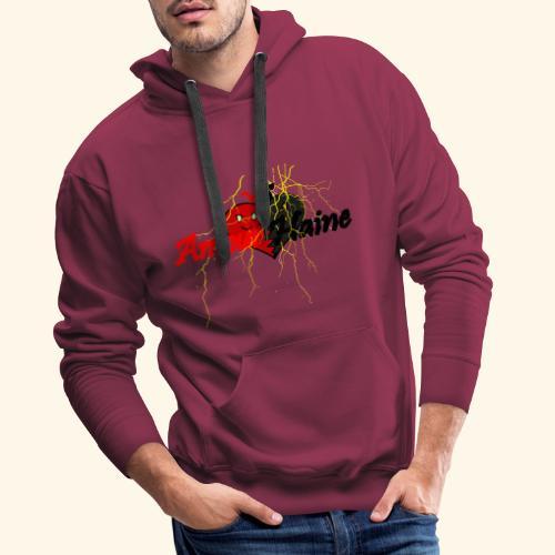 Amour & Haine - Sweat-shirt à capuche Premium pour hommes