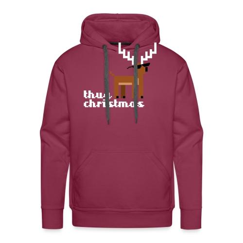 Christmas Xmas Deer Pixel Funny - Men's Premium Hoodie