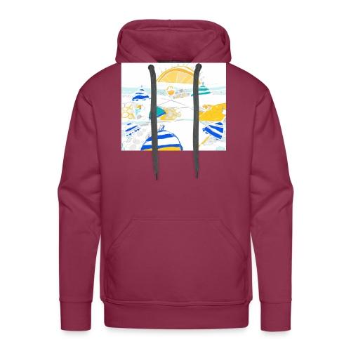 plage - Sweat-shirt à capuche Premium pour hommes