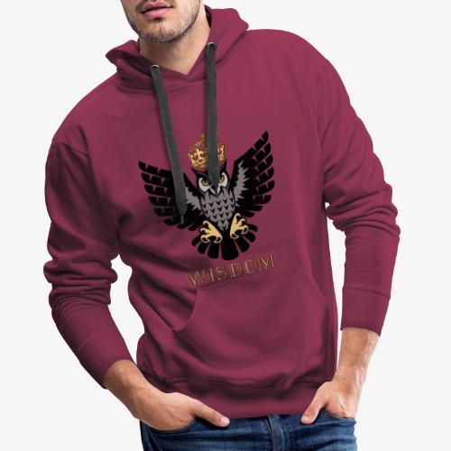 Royal Wisdom — La Chouette à Couronne - Sweat-shirt à capuche Premium pour hommes