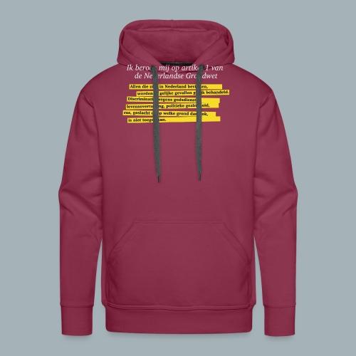 Nederlandse Grondwet T-Shirt - Artikel 1 - Mannen Premium hoodie