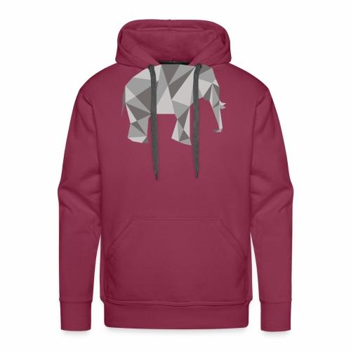 elephant géométrique - Sweat-shirt à capuche Premium pour hommes
