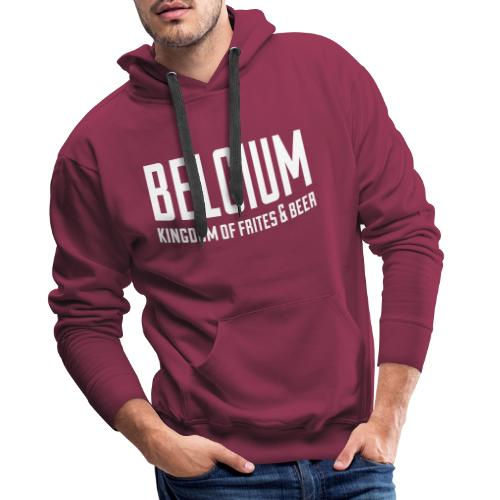 Belgium kingdom of frites & beer - Sweat-shirt à capuche Premium pour hommes