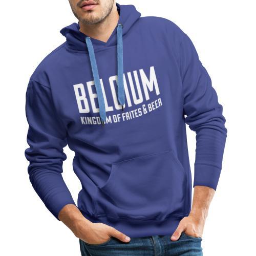 Belgium kingdom of frites & beer - Sweat-shirt à capuche Premium pour hommes