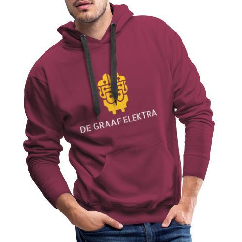 degraafelektra 3 oranje wit tekstonder - Mannen Premium hoodie