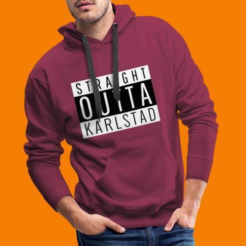Straight outta Karlstad - Premiumluvtröja herr