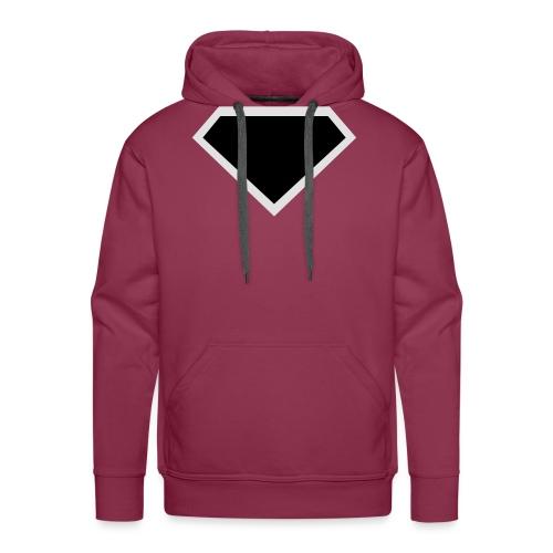 Diamond Black - Two colors customizable - Mannen Premium hoodie