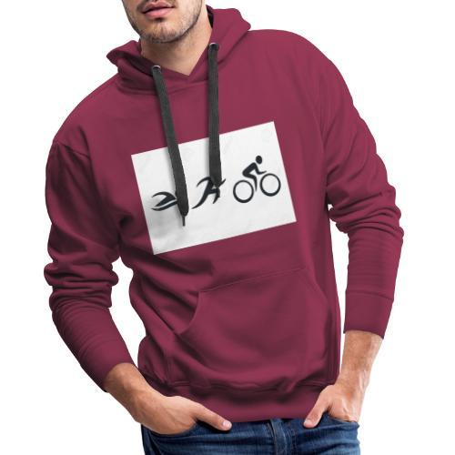 swim bike run - Männer Premium Hoodie