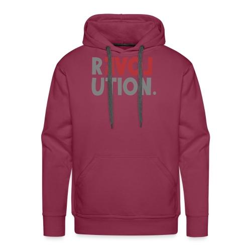 Revolution Love Sprüche Statement be different - Männer Premium Hoodie