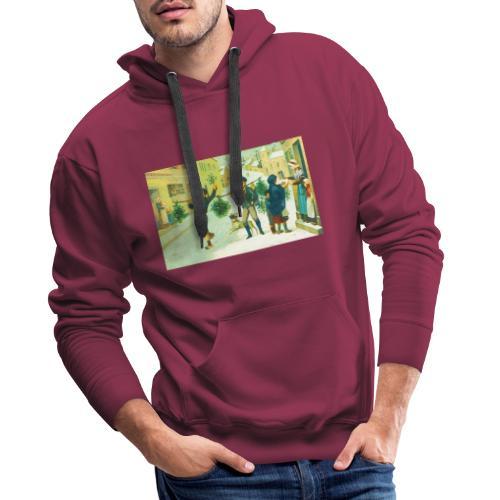 Jeune qui s'amuse - Sweat-shirt à capuche Premium pour hommes