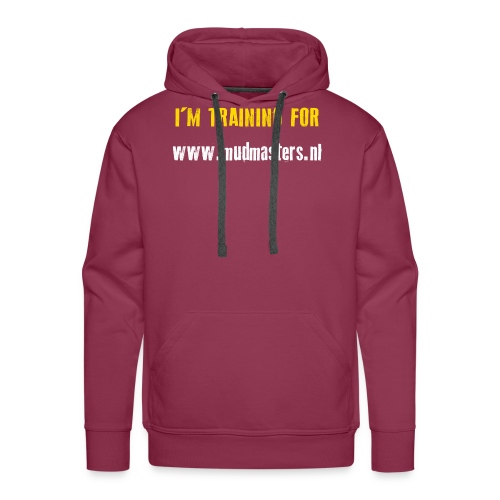 tshirt back - Mannen Premium hoodie
