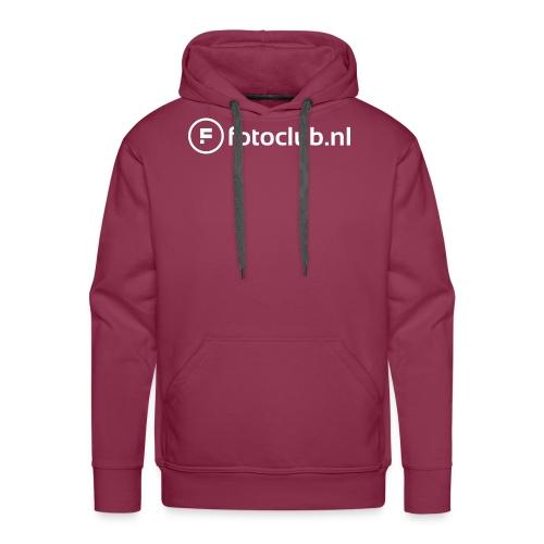 Logo Wit Fotoclublnl - Mannen Premium hoodie
