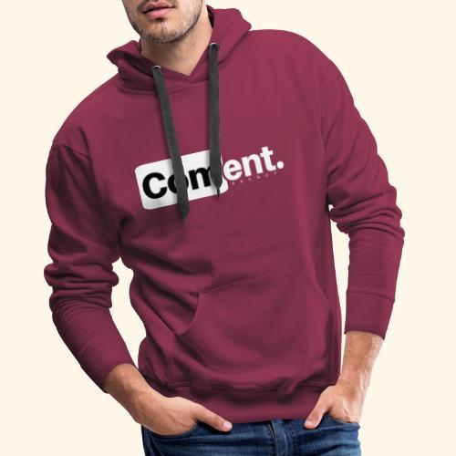 Com ent - Sweat-shirt à capuche Premium pour hommes