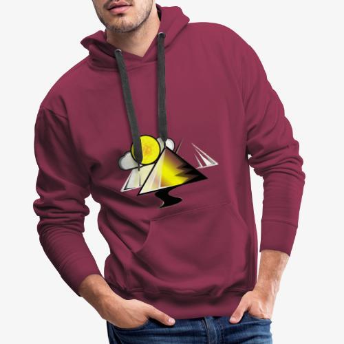 pyramid - Sudadera con capucha premium para hombre