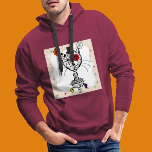 cat color - Men's Premium Hoodie