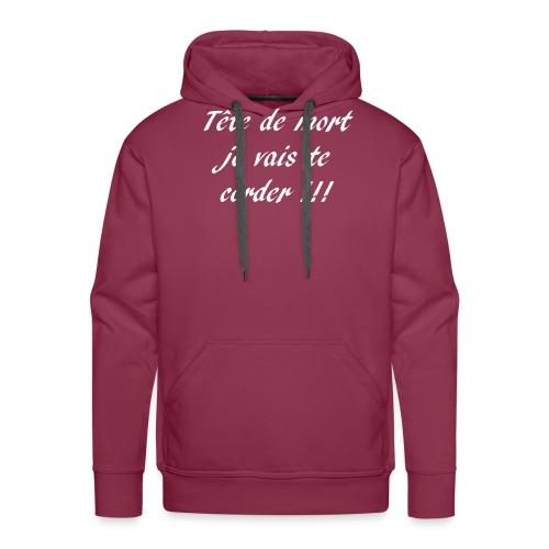 tete de mort - Sweat-shirt à capuche Premium pour hommes