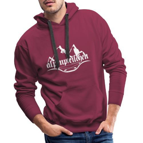Alpenpfeilchen - Logo - white - Männer Premium Hoodie