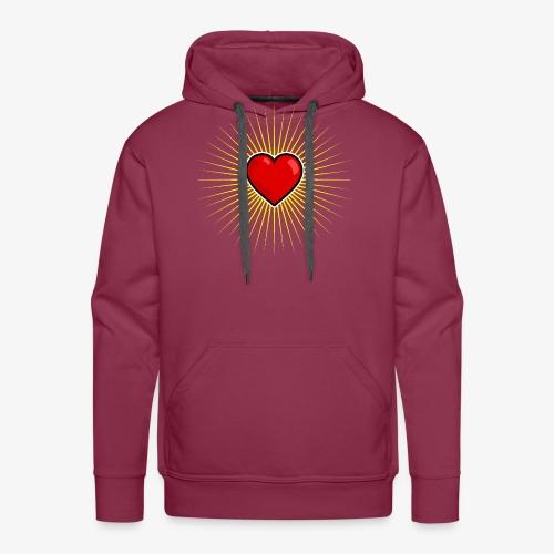 Love Star - Sweat-shirt à capuche Premium pour hommes